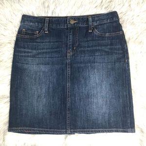 Tommy Hilfiger Dark Blue Distressed Jean Skirt